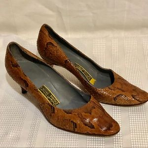 Vintage 50's Lizard High Heel Shoes-ALL LEATHER!